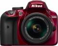 Nikon - D3400 DSLR Camera with AF-P DX NIKKOR 18-55mm f/3.5-5.6G VR Lens - Red
